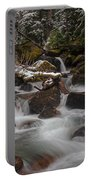 Winter Stream Tranquility Portable Battery Charger