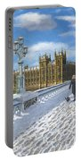 Winter Sun - Houses Of Parliament London Portable Battery Charger