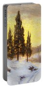 Winter Sundown Portable Battery Charger by Walter Launt Palmer