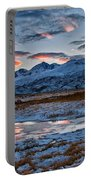 Winter Sunset Reflection Portable Battery Charger