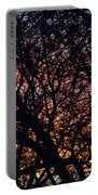 Winter Sunset Silhouette Portable Battery Charger
