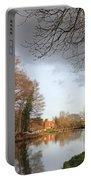 Winter Sunshine On The Wey Canal Surrey Uk Portable Battery Charger