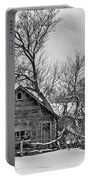 Winter Thoughts Monochrome Portable Battery Charger
