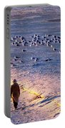 Winter Time At The Beach Portable Battery Charger
