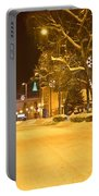 Winter Time Street Scene In Krizevci Portable Battery Charger