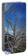 Winter Tree On Sky Portable Battery Charger