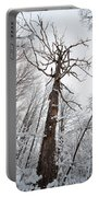 Winter Tree Perspective Portable Battery Charger