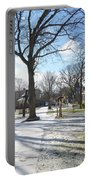 Winter Tree Shadows Portable Battery Charger