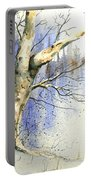 Winter Tree With Birds Portable Battery Charger
