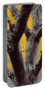 Winter Trees In Yellow Gray Mist 2 Portable Battery Charger