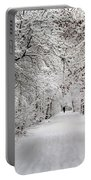 Winter Walk In Fairytale  Portable Battery Charger