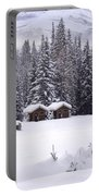 Forest Snow Blanketed Privies - Winter In Banff, Alberta Portable Battery Charger