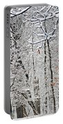 Winter White Trees Portable Battery Charger