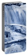 Winter Wonderland Waterfall Blues Portable Battery Charger