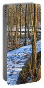 Winter Woods Walk Portable Battery Charger