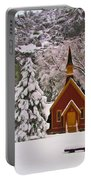 Winter Yosemite Chapel Portable Battery Charger
