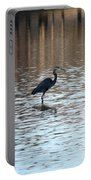 Winter's Blue Heron Portable Battery Charger
