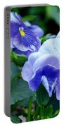 Winter's Blue Pansies Portable Battery Charger