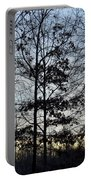 Winter's Trees At Dusk Portable Battery Charger