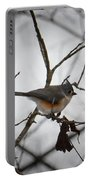 Winter's Tufted Titmouse Portable Battery Charger