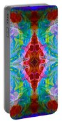 Wisdome And Mystery Abstract Pattern Artwork By Omaste Witkowski Portable Battery Charger