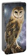 Wise Old Owl - Image Art By Jordan Blackstone Portable Battery Charger by Jordan Blackstone