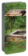 Wishing Well And Cat Portable Battery Charger