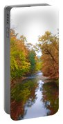 Wissahickon Creek Near Chestnut Hill College In Autumn Portable Battery Charger