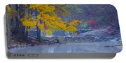 Wissahickon Morning In Autumn Portable Battery Charger