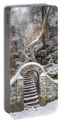 Wissahickon Steps In The Snow Portable Battery Charger