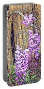 Wisteria And Old Fence Portable Battery Charger