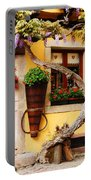 Wisteria And Yellow Wall In Alsace France Portable Battery Charger