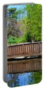 Wisteria In Bloom At Loose Park Bridge Portable Battery Charger