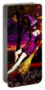 Witch In The Pumpkin Patch Portable Battery Charger