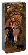 Witch Of The Autumn Forest  Portable Battery Charger by Daniel Eskridge
