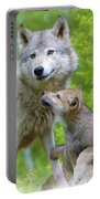 Wolf Of Minnesota Portable Battery Charger