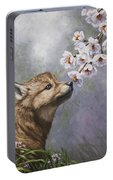 Wolf Pup - Baby Blossoms Portable Battery Charger