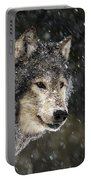 Wolf - Snow Storm Portable Battery Charger