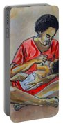 Woman And Child Portable Battery Charger