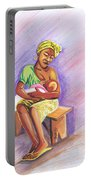 Woman Breastfeeding Bay In Rwanda Portable Battery Charger