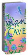 Woman Cave With Dragonfly Portable Battery Charger