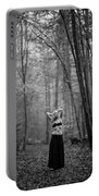 Woman In A Forrest Portable Battery Charger