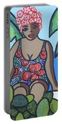 Woman In Bathing Suit 4 Portable Battery Charger