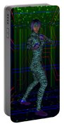 Woman In Cyber Passage Portable Battery Charger