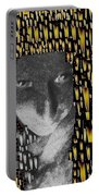 Woman In Flames Portable Battery Charger