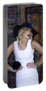 Woman In White Palm Springs Portable Battery Charger