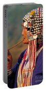 Akha Hill Tribe Woman  Thailand Portable Battery Charger
