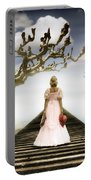 Woman On Pier Portable Battery Charger