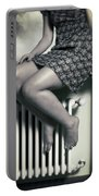 Woman On Window Sill Portable Battery Charger