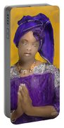 Woman Praying Portable Battery Charger